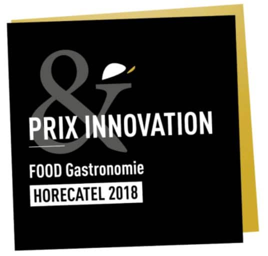 badge Prix de l'innovation Gastronomique 2018 à Horecatel